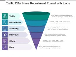 Traffic Offer Hires Recruitment Funnel With Icons