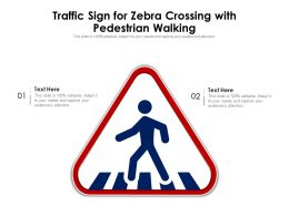 Traffic Sign For Zebra Crossing With Pedestrian Walking