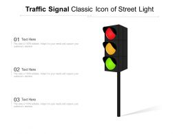 Traffic Signal Classic Icon Of Street Light