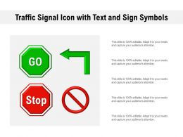 Traffic Signal Icon With Text And Sign Symbols