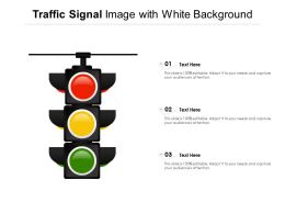 Traffic Signal Image With White Background
