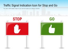 Traffic Signal Indication Icon For Stop And Go