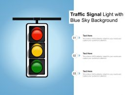 Traffic Signal Light With Blue Sky Background