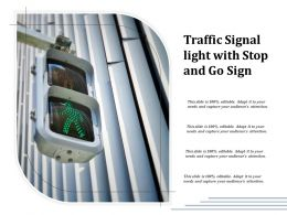 Traffic Signal Light With Stop And Go Sign