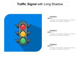 Traffic Signal With Long Shadow
