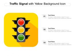 Traffic Signal With Yellow Background Icon