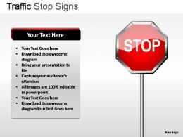 Traffic Stop Signs Powerpoint Presentation Slides