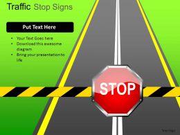 Traffic Stop Signs Powerpoint Presentation Slides DB