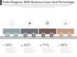 Train Diagram With Business Icons And Percentage Powerpoint Slides