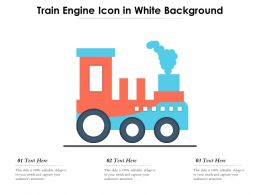 Train Engine Icon In White Background