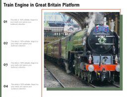 Train Engine In Great Britain Platform