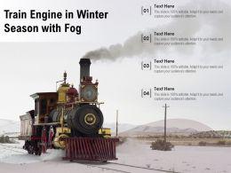 Train Engine In Winter Season With Fog