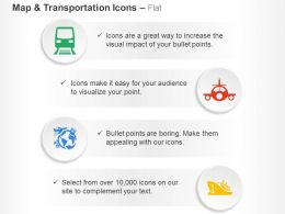 Train Plane Global Travel Ship Ppt Icons Graphics