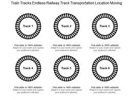Train Tracks Endless Railway Track Transportation Location Moving