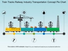 Train Tracks Railway Industry Transportation Concept Pie Chart