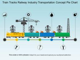 Train Tracks Railway Industry Transportation Concept Pie Chart
