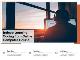 Trainee Learning Coding From Online Computer Course