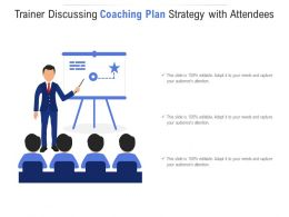 Trainer Discussing Coaching Plan Strategy With Attendees