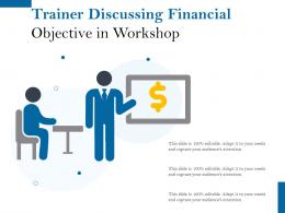 Trainer Discussing Financial Objective In Workshop