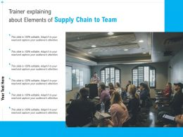 Trainer Explaining About Elements Of Supply Chain To Team
