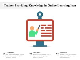Trainer Providing Knowledge In Online Learning Icon