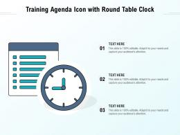 Training Agenda Icon With Round Table Clock