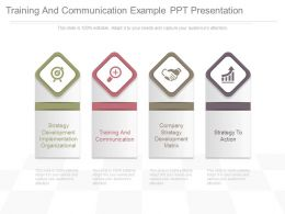 Training And Communication Example Ppt Presentation