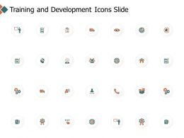 Training And Development Icons Slide Checklist Gears Ppt Powerpoint Presentation Icon Themes