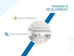 Training And Development Ppt Powerpoint Presentation Styles