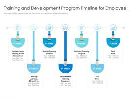 Training And Development Program Timeline For Employee