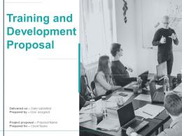 Training And Development Proposal Powerpoint Presentation Slides