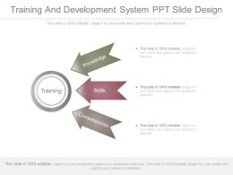 Training And Development System Ppt Slide Design