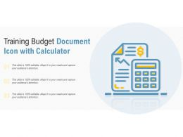 Training Budget Document Icon With Calculator