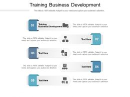 Training Business Development Ppt Powerpoint Presentation Show Samples Cpb