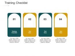 Training Checklist Ppt Powerpoint Presentation Infographics Good Cpb