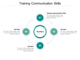 Training Communication Skills Ppt Powerpoint Presentation Gallery Examples Cpb