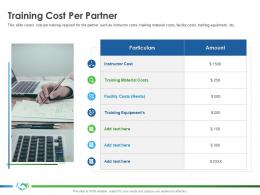 Training Cost Per Partner Implementing Enablement Company Better Sales Ppt Show