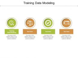 Training Data Modeling Ppt Powerpoint Presentation Icon Brochure Cpb