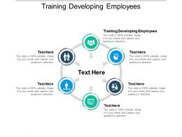 Training Developing Employees Ppt Powerpoint Presentation Ideas Layout Cpb