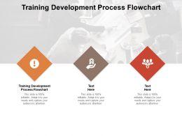 Training Development Process Flowchart Ppt Powerpoint Presentation Layouts Icons Cpb