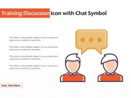 Training Discussion Icon With Chat Symbol