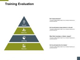 Training Evaluation Learning A197 Ppt Powerpoint Presentation Model Themes