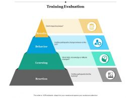 Training Evaluation Learning Result Ppt Infographics Example Introduction