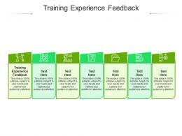 Training Experience Feedback Ppt Powerpoint Presentation Model Guide Cpb
