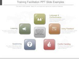 Training Facilitation Ppt Slide Examples
