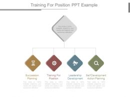 Training For Position Ppt Example