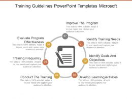 Training Guidelines Powerpoint Templates Microsoft