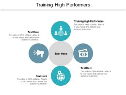 Training High Performers Ppt Powerpoint Presentation Portfolio Display Cpb