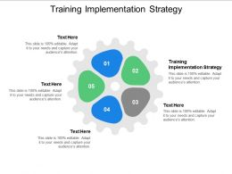 Training Implementation Strategy Ppt Powerpoint Presentation Summary Outfit Cpb