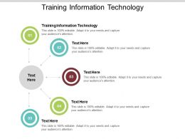 Training Information Technology Ppt Powerpoint Presentation Infographics Pictures Cpb